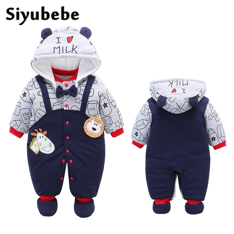 Newborn Baby Girl Clothes Winter Snowsuit Baby Boy Clothing Thicken Cotton Baby Rompers Warm Baby Overalls For Kids Ropa Bebe newborn baby rompers high quality natural cotton infant boy girl thicken outfit clothing ropa bebe recien nacido baby clothes