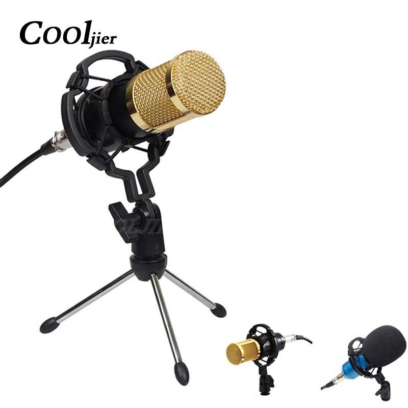 Bm800 condensador microfone de som profissional com montagem choque para gravação kit ktv karaoke bm 800 microfone rádio baodcasting
