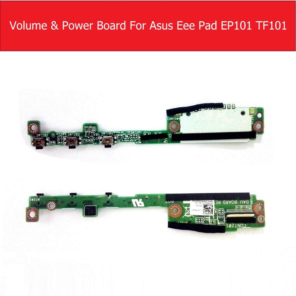Genuine Volume & Power Board For ASUS Eee Pad EP101 Signal RF Cable For ASUS Eee Pad TF101 LCD Connector Jack Board Parts