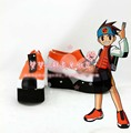 Rockmanexe Lan Hikari Zapatos Cosplay de Halloween Corto Botas Custom-Made