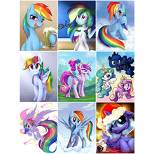OLY 5D Diamond Painting Full Drill Cartoon Pony Mosaic Sale Round Rhinestones Pictures Embroidery Home Decor