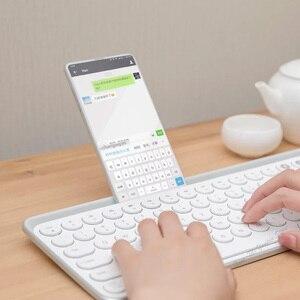 Image 4 - Youpin Miiiw Bluetooth Двухрежимная клавиатура MWBK01, 104 клавиши, 2,4 ГГц, мультисистемная, беспроводная, портативная клавиатура