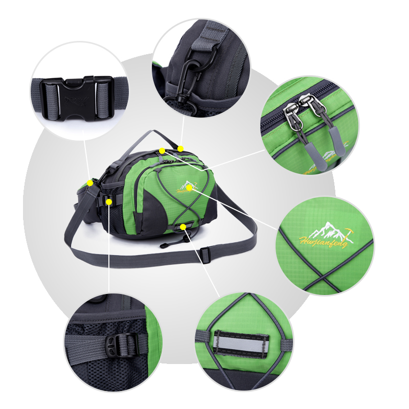 New Outdoor Sports Waterproof Camping Hiking Bags Waist Bag Pouch Nylon Lightweight Travel Casual Shoulder Bag Portable Handbag in Climbing Bags from Sports Entertainment