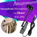 Саксофон конденсатор микрофон для Shure беспроводная система музыка инструмент микрофон для ветер инструмент розетки и вилки XLR 4Pin