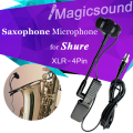 Saxophone Condenser Microphone for Shure Wireless System !! Top quality Music Instrument Microfone for Wind Instrument XLR 4Pin