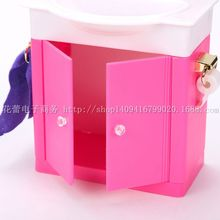 case for barbie doll gift set bathroom furniture accessories girl children toys children play house simulation