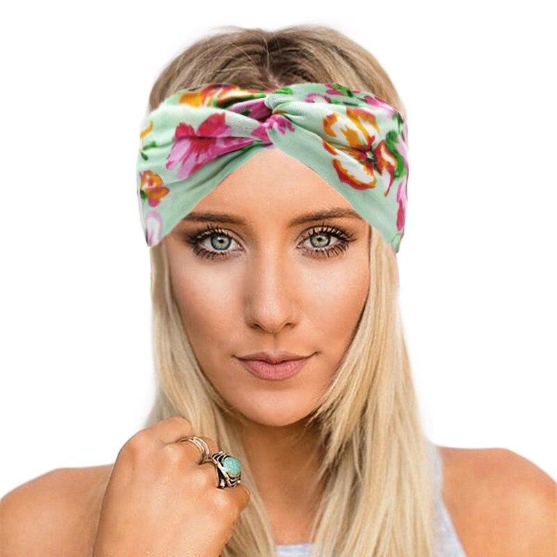 Woman 2013 Bands: Patchwork Turban Headbands For Women Twist Stretch