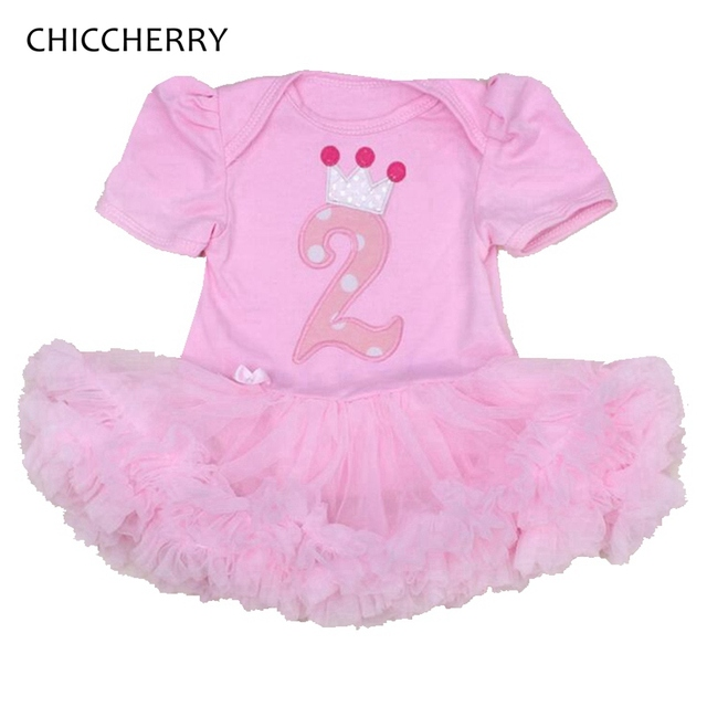 2 Years Birthday Dress Lace Tutu Fantasia Infantil Vestido Bebe Girls Dresses Summer 2016 Baby Girl Clothes Infant Clothing