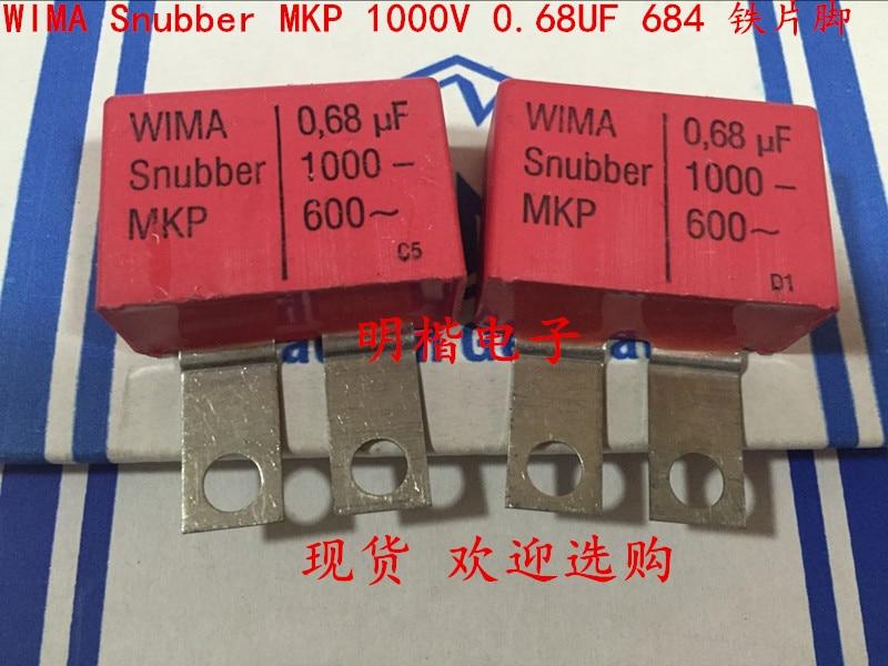 2019 Offre Spéciale 10 pcs/20 pcs Allemagne WIMA Snubber MKP 1000 V 0.68 UF 684 1000 V 680n fer pied Audio condensateur livraison gratuite