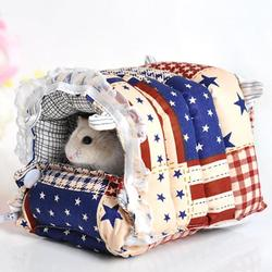 Small animal hamster rabbit house bed detachable cotton guinea pig hedgehog rat hammock warm hanging cage.jpg 250x250