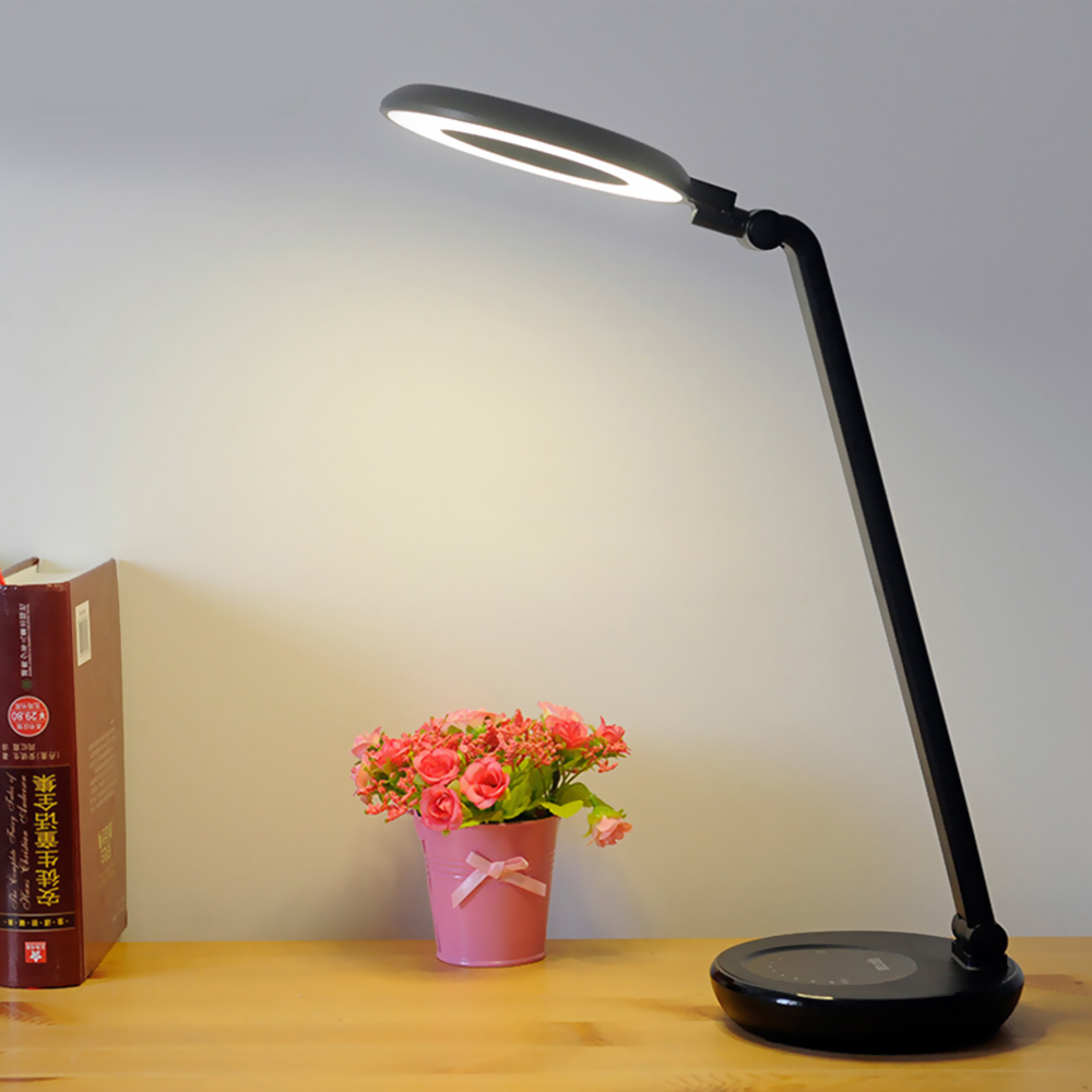 4000mAh Battery LED Touch Switch Stepless Dimming Desk Lamp Ring Eye Protection Reading Charging & Plugging USB Led Table Lamps