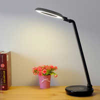 LED Touch Schakelaar Traploos Dimmen Bureaulamp Ring Oogbescherming Reading Opladen & Plug USB Led Tafellampen