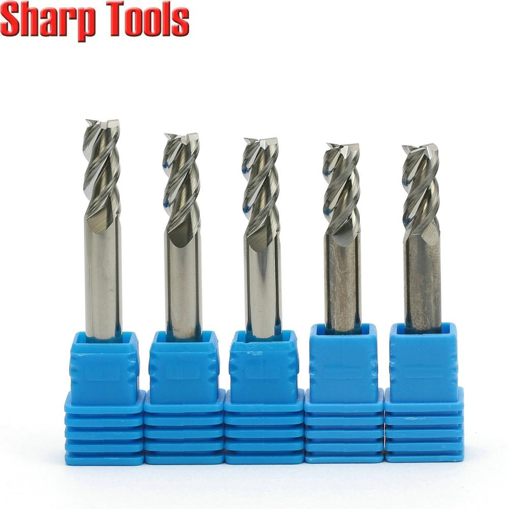 tungsten carbide flat end Router Bit 4mm Shank 4 Flute CNC Carbide End Mill