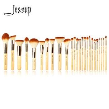 Jessup Brand 25pcs Beauty Bamboo Professional Makeup Brushes Set Make up Brush Tools kit Foundation Powder Blushes Eye Shader - DISCOUNT ITEM  17% OFF All Category