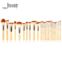 Jessup Brand 25pcs Beauty Bamboo Professional Makeup Brushes Set Make Up Brush Tools Kit Foundation Powder