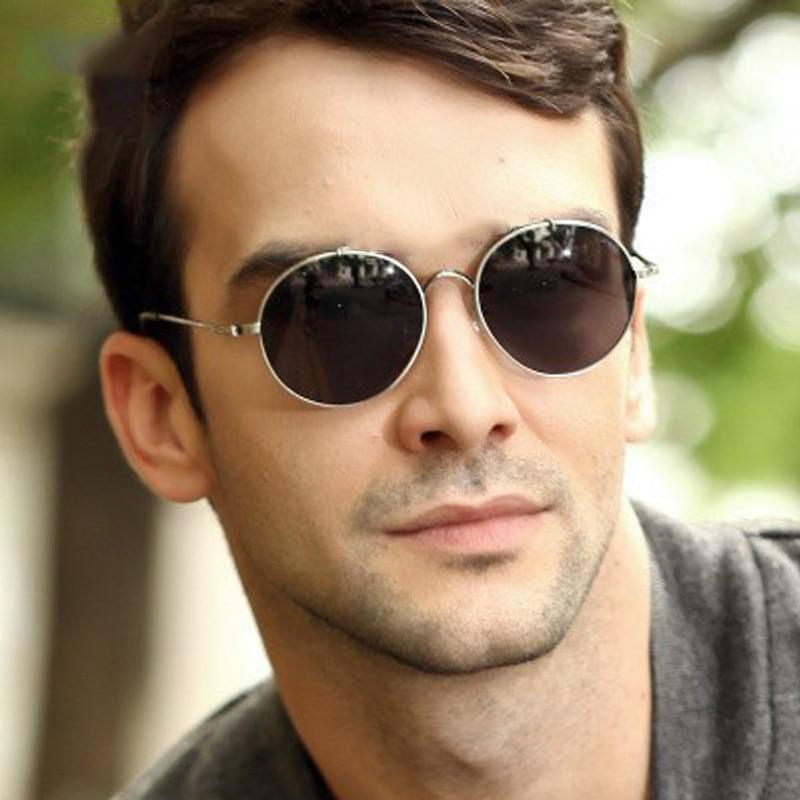 Ive Latest Fashion Retro Vintage Round Sunglasses Men