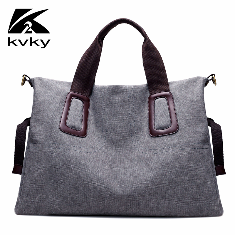KVKY 2017 Large Capacity Brand Women Shoulder Bags Fashion Casual Canvas Women Tote Bags Designer Handbags High Qualtiy Big Bag aosbos fashion portable insulated canvas lunch bag thermal food picnic lunch bags for women kids men cooler lunch box bag tote