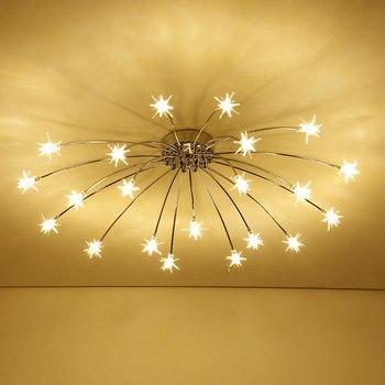 LED Start Chandelier Kids room Bayby Children Chandelier modern design round girls room chandelier lighting fixtures
