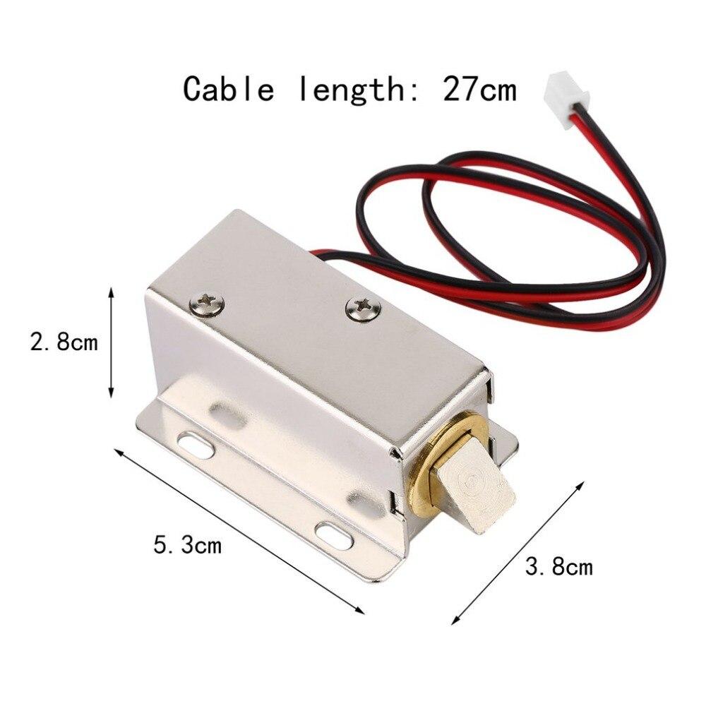 Купить с кэшбэком Magnetische lock Professionele Kleine DC 12 V Open Frame Type Solenoid Voor Elektrische Deurslot met Lage Stroomverbruik Stabili
