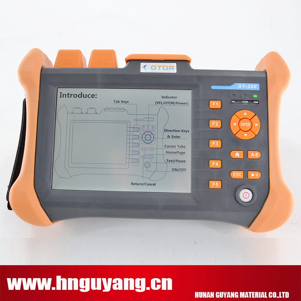 GUYANG GY300A 5.6inch touchscreen Multilanguage Optical Time Domain Reflectometer 120km OTDR 1310/1550nm 30/28DB with VFL