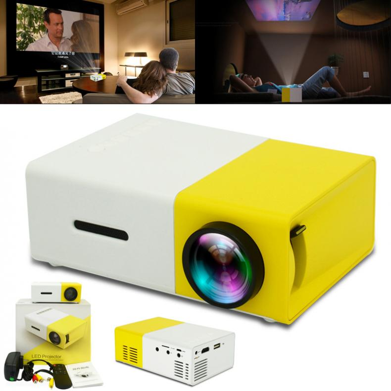 YG300 60 Inch LED Projector HD Battery Operated 320x240 Pixels YG 300 HDMI USB LED Pocket Projector for Home and Entertainment