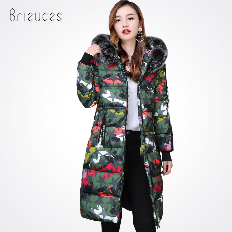 Brieuces New Winter Coat Women 2017 Thick Warm Winter Jackets Female Hooded Fur Collar Hooded Long Parkas Coat Outerwear motorcycle cnc direction steering damper steering mounting kit stabilizer adjustable for kawasaki ninja zx14 06 11 zx14r 12 16