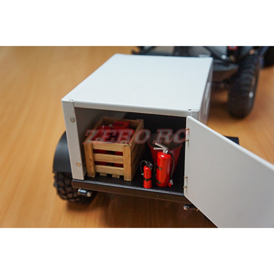 1/10 Scale Heavy Duty Steel Shed Trailer For RC Cars Crawler Truck ...