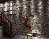 Beibehang Brick Pattern Papel De Parede Living Room Wall 3d Wallpaper Waterproof Pvc Dimensional Chinese Style