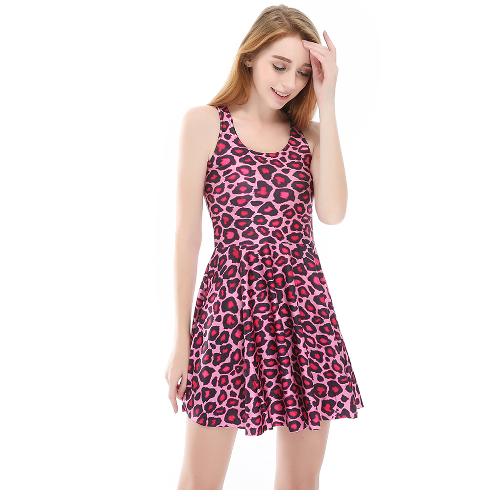 Hot sale New arrival Fashion 3D Women Pink Leopard print slim Expansion  sleeveless dress drop shipping  Free shipping-in Dresses from Women s  Clothing on ... 18fd16f9f