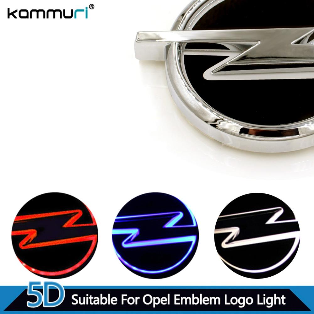 KAMMURI Car Styling 5D car badge light emblem car logo light car emblem for Opel 13.3cm X 10.1cm white red blue ...