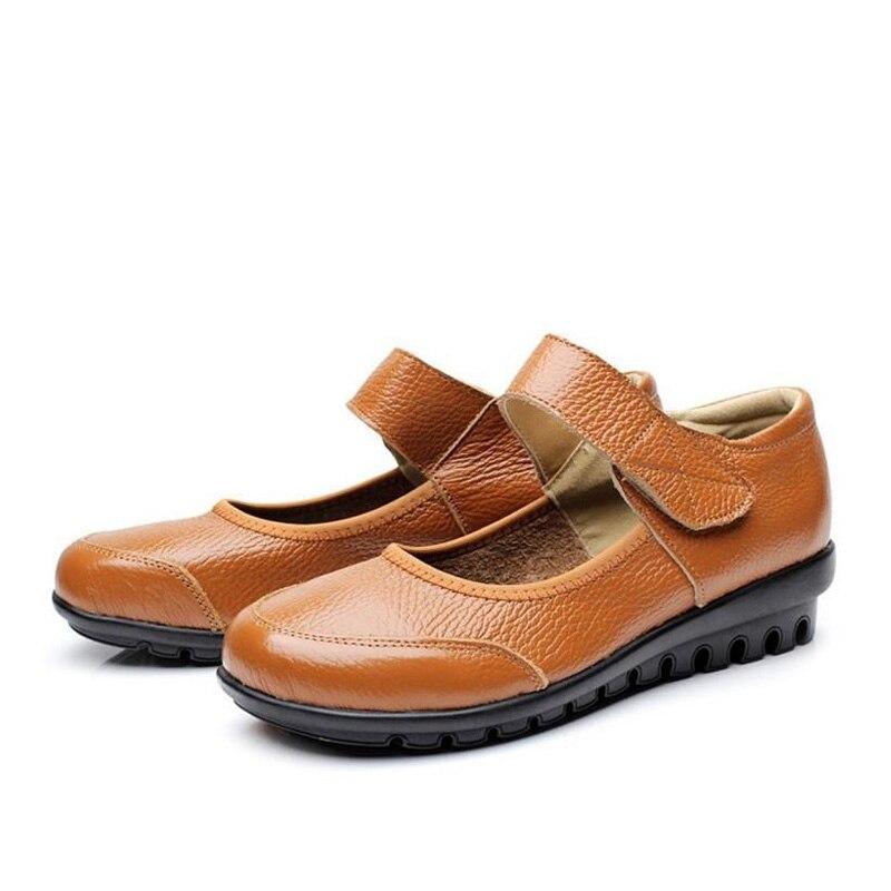 Femmes Cuir Dames B2149 Profonde 41 Peu Chaussures Like Usine Bouche En Ue Simples Rétro Like Mère Appartements Grande Taille Respirant As as Travail Directe Picture xX0CHtC
