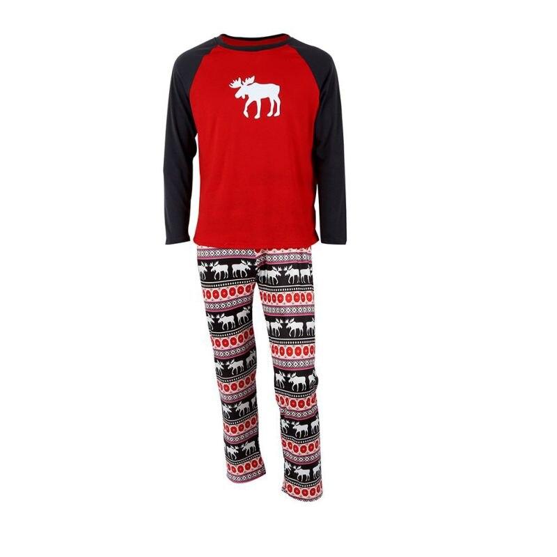 New Christmas Family Matching Pajamas Set Women Casual Xmas Sleepwear Male Nightwear