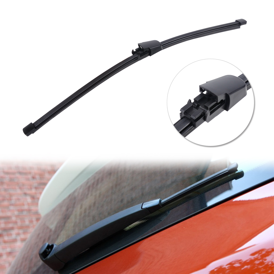 CITALL Rubber Rear Window Windscreen Wipers Windshield Wiper Blade For VW Polo 2009 2012 <font><b>2013</b></font> <font><b>Tiguan</b></font> 2008 2009 2010 2011 2012 image