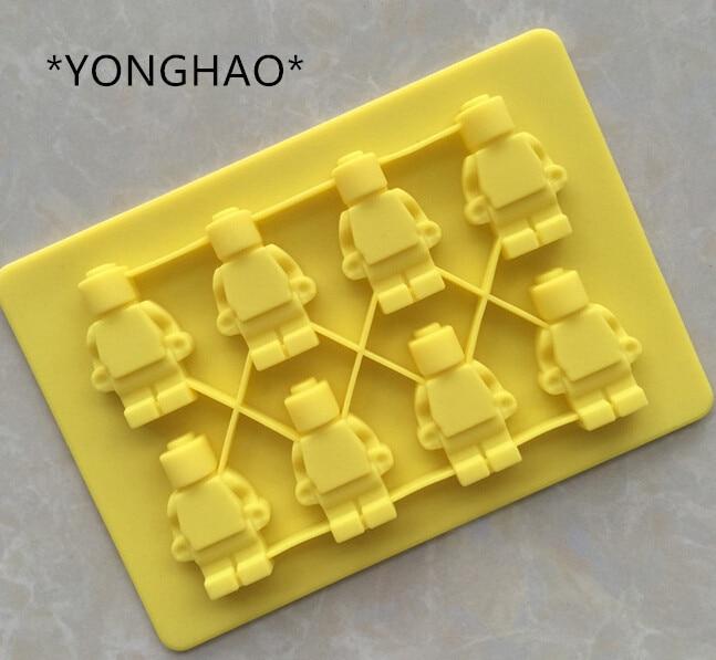 Square Lego Toy Brick Shape Silicone Fandont Chocolate Mold Ice Cube Mould Cake Bakeware fondant cake decorating tools