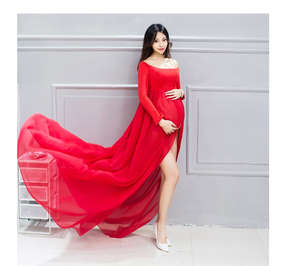 Summer Chiffon Maternity Dresses Photography Props for Pregnant ...