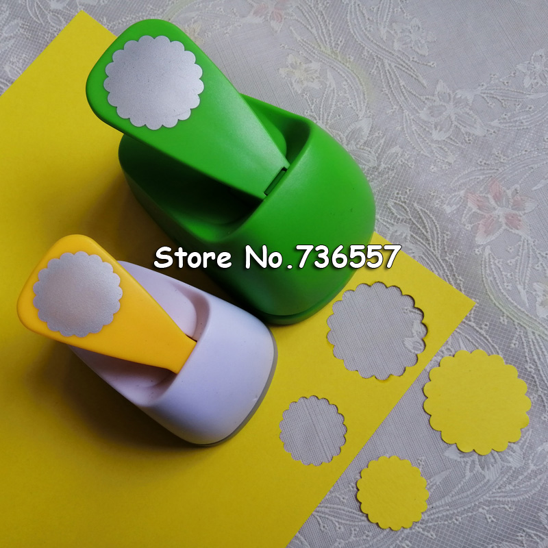 1 Inch 1.5 Inch Wave Circle Design Eva Foam Punch Paper Puncher Scrapbooking Cutter Hole Punch Craft Punch For DIY Artwork