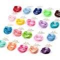10 pçs/lote Meninas Scrunchies cores de cabelo anel headwear Mini acessórios de cabelo para meninas Cabelo Bandas Elásticas do bebê Caçoa o Presente de Natal