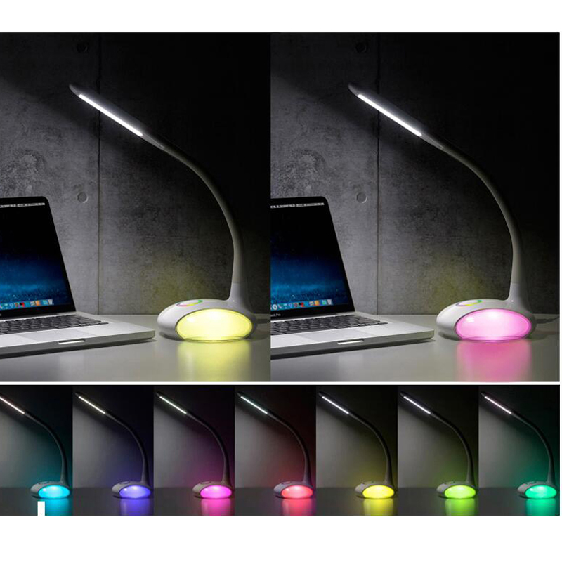 LED Charging Lamp Eye Protection Reading Lamp Portable Desk Color Adjustable Lamp 3 Level Brightness Adjustable Lamp YSL Q8