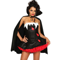 Adult Gothic Vampires Ghost Halloween Costume Sexy Strapless Fancy Party Dress Witch Female Costumes Zombie Uniforms