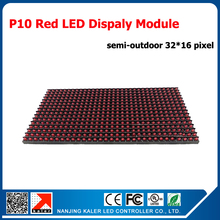 TEEHO Semi-outdoor P10 Red Color 32*16 Pixels Led Panel Module Board P10 LED Module Panel