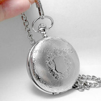 20pcs Lot DHL Free Shipping Top Quality Silver Skeleton Mechanical Pocket Watch Flip Pocket Watch Christmas