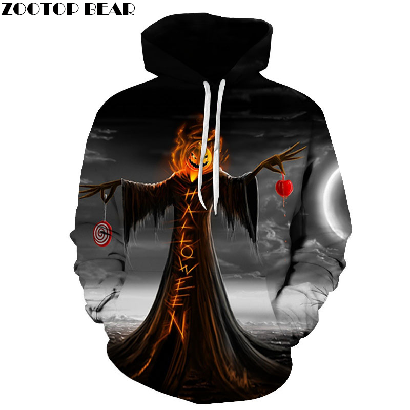 Jack skellington Printed Hoodies Sweatshirts Mens Hoodies Anime Tracksuits Drop Ship Pullover Mens Funny Hoodie 2018 ZOOTOP BEAR