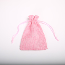 10 * 15Cm imitation linen drawstring bag jewelry wedding gift storage pocket wholesale 100Pcs