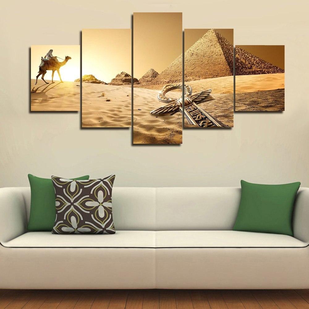 5 шт. рукоделие алмазная живопись 5D «сделай сам» спальный Фараон, египетская пирамида, верблюд, пустыня вышивка крестиком Алмазная мозаика - 2