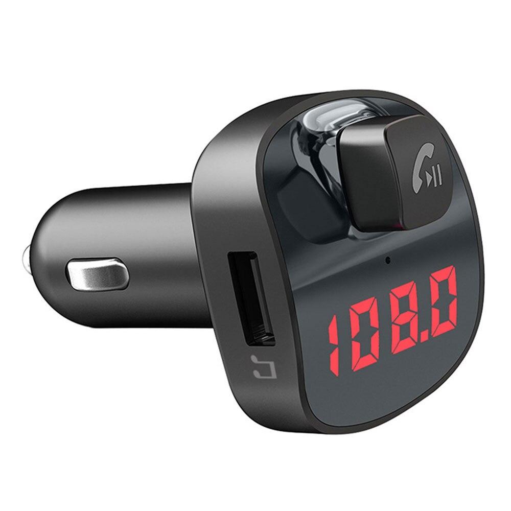 Беспроводной радио адаптер Bluetooth ресивер FM-передатчик, автомобильный fm-передатчик Напряжение обнаружения Беспроводное зарядное устройство Портативный