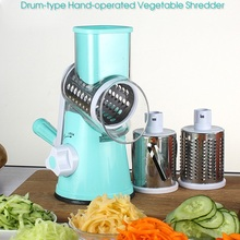 Manual Hand-operated Vegetable Slicer Cutter 3 Stainless Steel Blade Onions Potato Carrot Grater Slicer Shredder Kitchen Tools