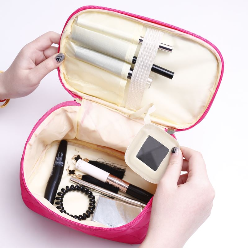 1pc Cosmetic Bag Large Capacity Portable Cosmetic Bag Sundries Storage Package Box Small Card Package Special Offer