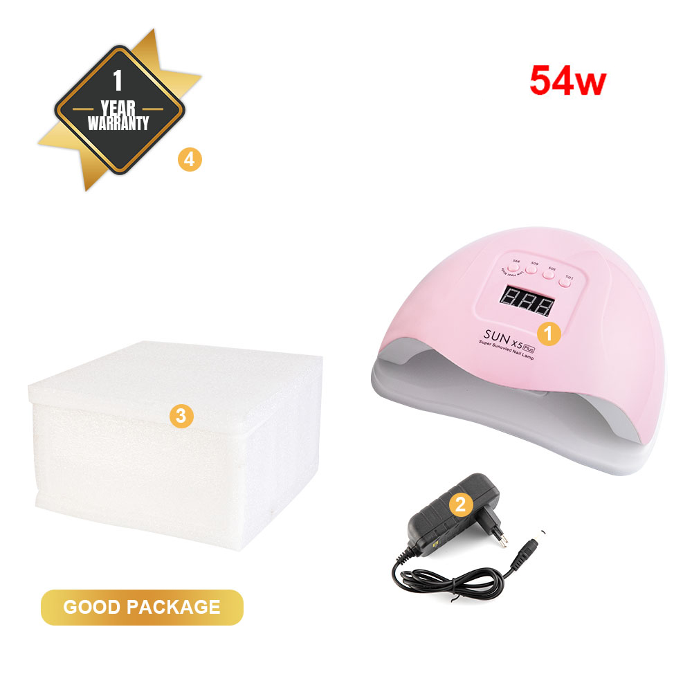 Image 5 - SUN 5X Plus 54W UV LED Lamp Nail Dryer Dual UV Lamp For Curing UV Gel Nail Polish With Sensor Smart Timer Lamp For Nails-in Nail Dryers from Beauty & Health
