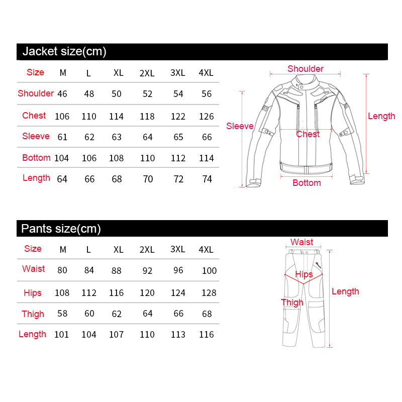 Motorcycle Jacket Winter Windproof Motocross Suits Jacket Pants Moto Jacket Protective Gear Armor Men Motorcycle Clothing JK 38 in Jackets from Automobiles Motorcycles