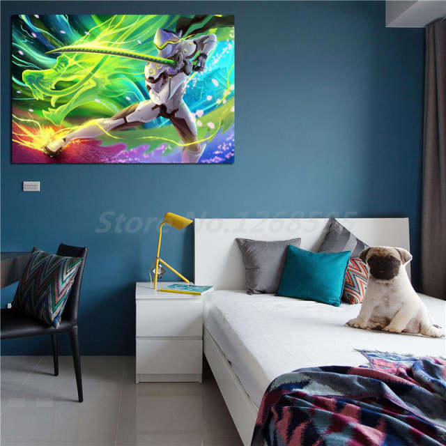 Us 57 5 Offgenji Overwatchs 4k Wallpaper Wall Art Canvas Poster And Print Canvas Painting Decorative Picture For Living Room Home Decor In